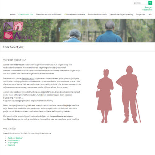 Website Aksent vzw