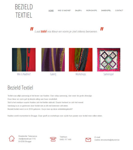 Website Bezield Textiel