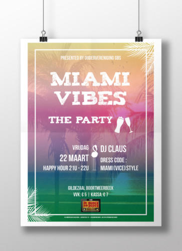 Poster Miami Vibes - The Party